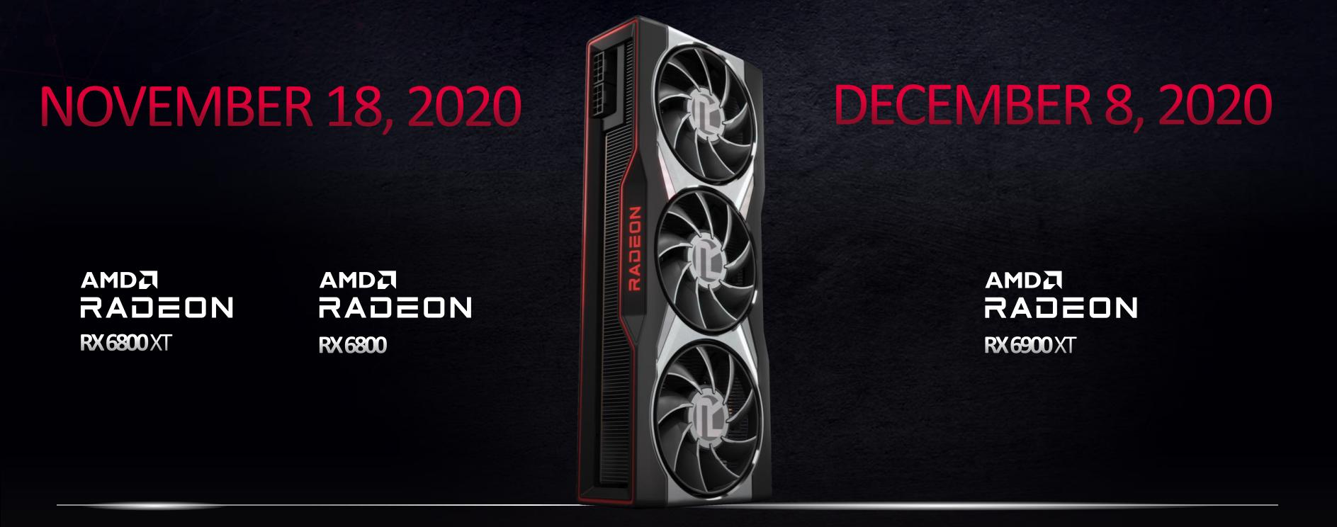 AMD Radeon RX 6900 XT vs RX 6800 XT vs RX 6800